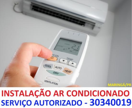 INSTALAÇÃO DE SPLIT EM MARINGÁ - SERVIÇO AUTORIZADO - GARANTIA TOTAL DE FABRICA