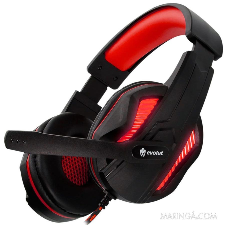 Headset Gamer Thoth EG305 Vermelho Evolut 5x S/Juros