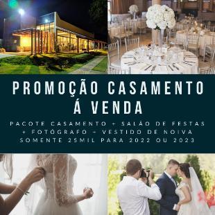VENDO CASAMENTO COMPLETO + SALÃO DE FESTAS + FOTÓGRAFO + VESTIDO DE NOIVA