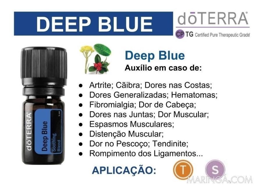 Óleo Essencial Doterra Deep Blue ™ - 12x S/ Juros!!