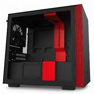 GABINETE MINI-ITX - H210 BLACK/RED - LATERAL COM VIDRO TEMPERADO - CA-H210B-BR SKU 32352