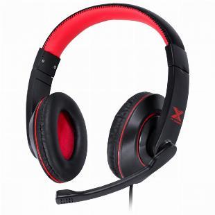 FONE HEADSET GAMER V BLADE II USB COM MICROFONE RETRATIL E AJUSTE DE HASTE PRETO COM VERMELHO - GH200 SKU 31534