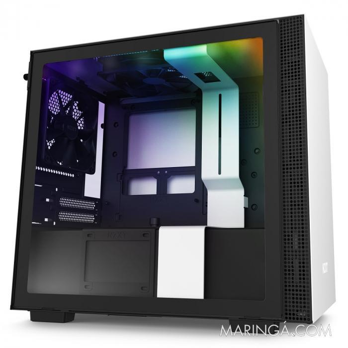 GABINETE MINI-ITX - H210I MATTE WHITE - COM CONTROLADORA DE FANS + FITA DE LED - CA-H210I-W1 SKU 32348
