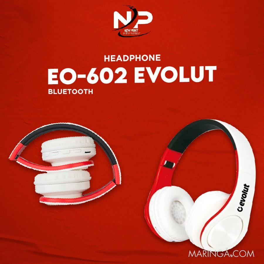 Fone Bluetooth 5.0 Evolut Eo-602 - 5x S/Juros