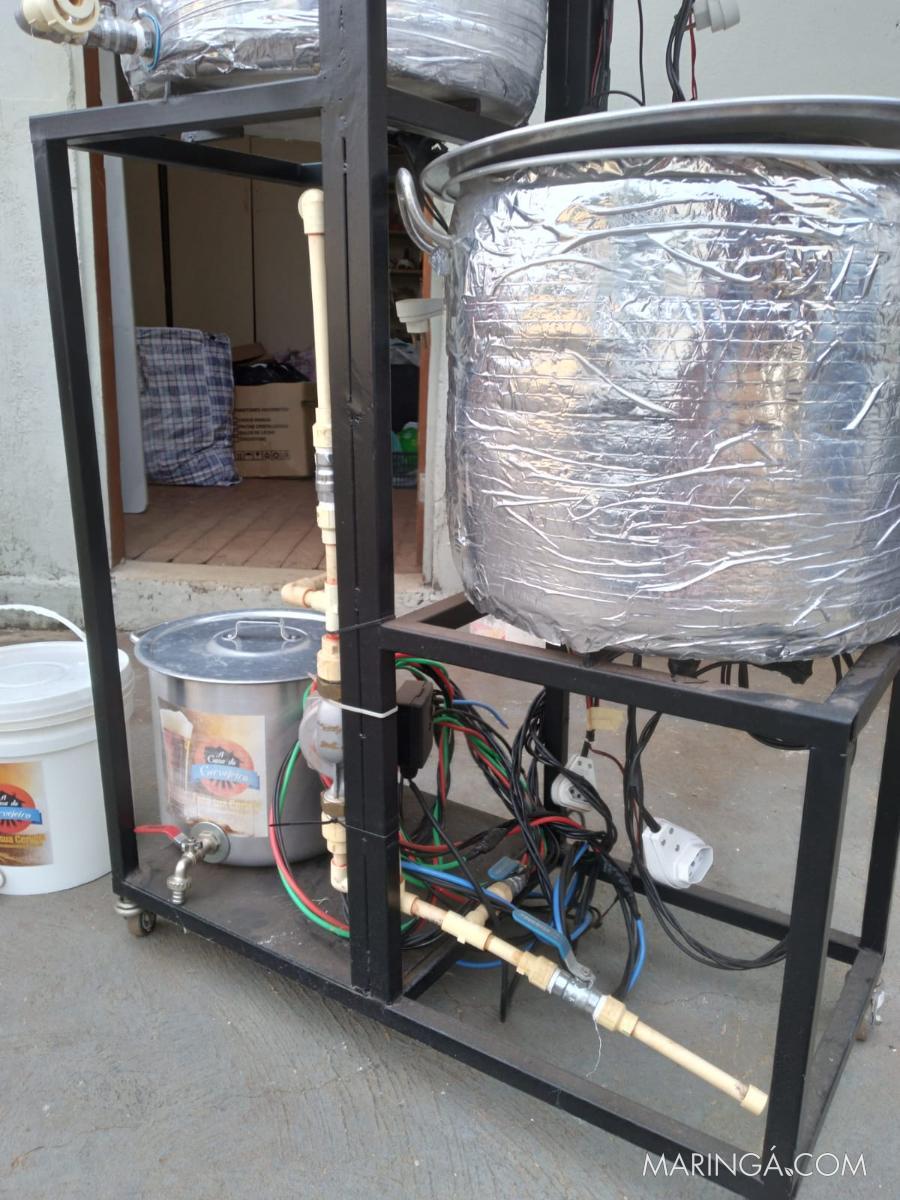 Vendemos um kit para fazer cerveja