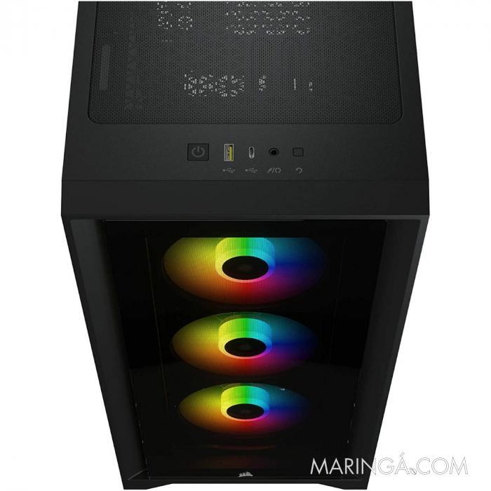 GABINETE ATX MID TOWER - 4000 SERIES - 4000X RGB BLACK - CC-9011204-WW SKU 35124