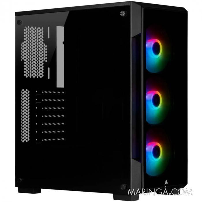 GABINETE ATX MID TOWER - CRYSTAL SERIES 220T RGB BLACK - CC-9011190-WW SKU 35098
