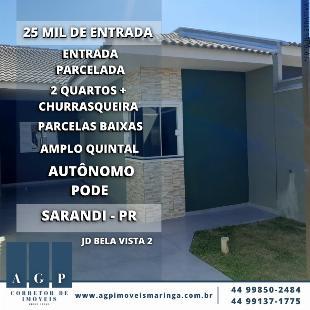 CASA NO JARDIM BELA VISTA 2 - SARANDI , com churrasqueira + área gourmet completa, com acabamentos Top.