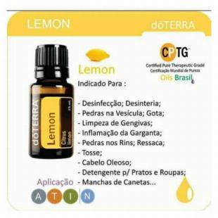 Óleo Essencial Limão Siciliano (lemon) Doterra - 5x S/ Juros!!
