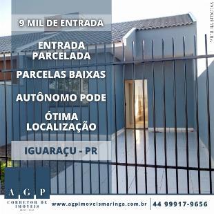 Casa em Iguaraçu - Entrada e Documentação parcelados