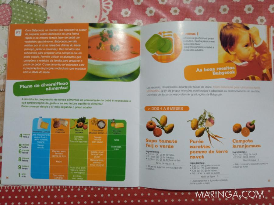 Babycook- Sopeira, compota de frutas para bebê.