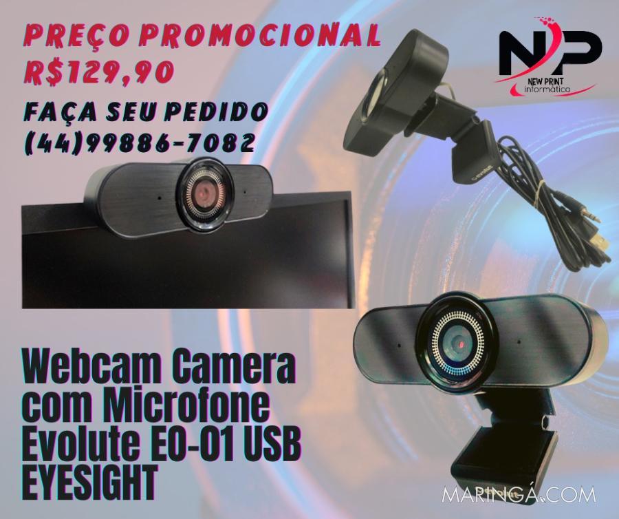 Webcam com Microfone Evolut EO-01 Eyesight - 12x S/Juros!!
