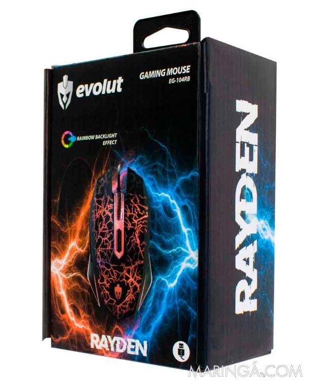 MOUSE GAMER ÓPTICO RAYDEN  EG-104RB– EVOLUT - 2400 DPI