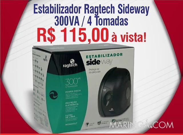 Estabilizador Ragtech SideWay 300Va 4 Tomadas
