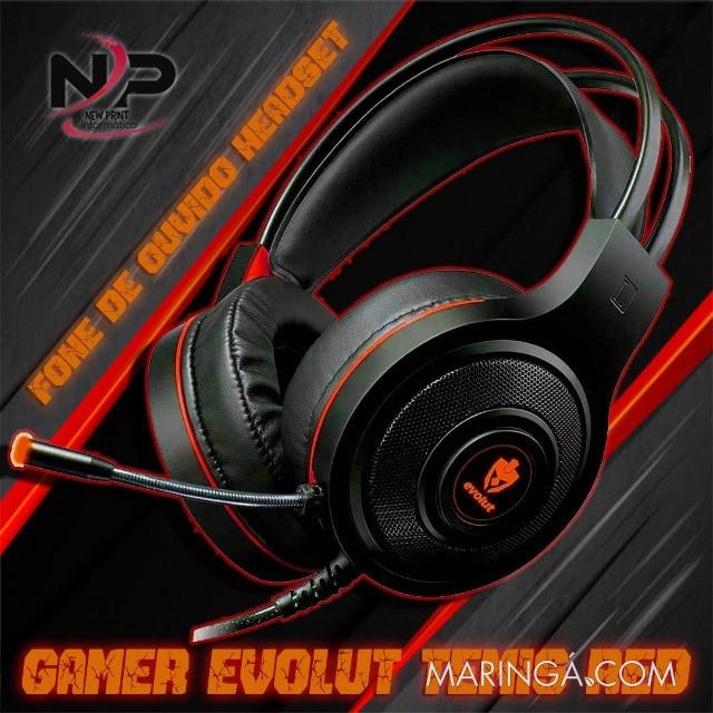 Headset Gamer Evolut Têmis Eg-301 Vermelho - 12x S/Juros!!