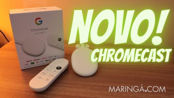 Chromecast em Maringá, Novo Chromecast With Google TV com controle remoto.