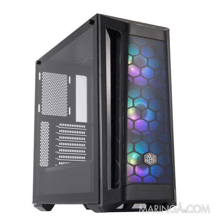 GABINETE MASTERBOX MB511 MID TOWER COM 3 FANS DE LED ARGB PRETO - MCB-B511D-KGNN-RGA SKU 34980