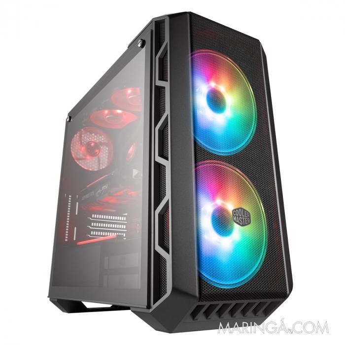 GABINETE MASTERCASE H500 MID TOWER COM LED ARGB MCM-H500-IGNN-S01 SKU 34969