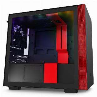 GABINETE MINI-ITX - H210I MATTE BLACK/RED - COM CONTROLADORA DE FANS + FITA DE LED - CA-H210I-BR SKU 32349