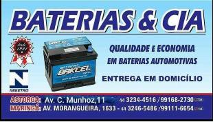 BATERIAS A PARTIR DE R$ 169,00! PROMOÇÃO!